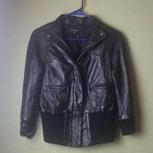 Bebe Leather Bomber